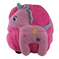 Рюкзак детский Пони в сердечках меховой 6-200 (10878)