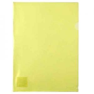 Папка уголок А4 желтая Axent 1434-26