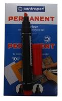 Маркер перманентный красный 1-4,6 мм клиноподоб 8576