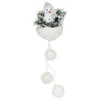 Новогодний декор Снеговик в корзинке  5-8