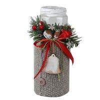 Новогодний декор Подсвечник высокий  ткань