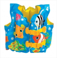 Жилет надувной Рыбка винил 3-5 лет с двумя застежками Intex 59661