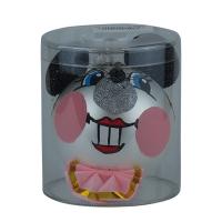 Новогодняя игрушка формовая стекло Мышка с ушками + тубус