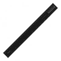 Линейка пластиковая 30см черная Axent 7630-01-A