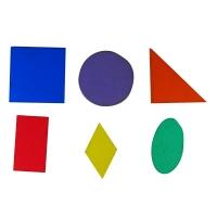 Игрушка развивающая геометрия фигуры 7см 6шт фанера крашена О-00011