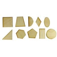 Игрушка развивающая геометрия фигуры 7см 10шт фанера О-00012