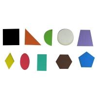 Игрушка развивающая геометрия фигуры 7см 10шт фанера крашена О-00013