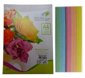 Бумага цветная А4 100л пастель Sinar Spectra 80 г/м2 набор 160