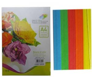Бумага цветная А4 250л интенсив Sinar Spectra 80 г/м2 набор 501,504