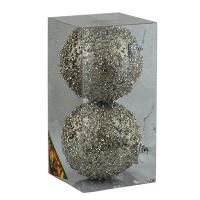 Набор елочных игрушек пластик 10см в упак 2шт 92078-PN