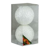 Набор елочных игрушек пластик 10см в упак 2шт 92080-PN