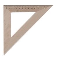 Треугольник деревянный 16см 45*45*100 103021