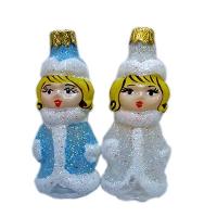 """Новогодняя игрушка формовая стекло 9,5см""""Снегурочка"""" 1024"""
