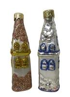 """Новогодняя игрушка формовая стекло 9см """"Домик-Мечеть"""" 1129"""