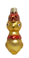 """Новогодняя игрушка формовая стекло 7,5см """"Курочка"""" 1066"""