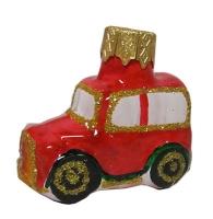 """Новогодняя игрушка формовая стекло 5см """"Машинка большая """" 1110"""