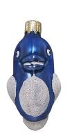"""Новогодняя игрушка формовая стекло 7,5см """"Дельфин"""" 1029"""