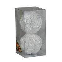 Набор елочных игрушек пластик 10см в упак 2шт 92069-PN