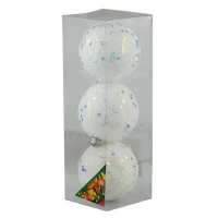 Набор елочных игрушек пластик 8см в упак 3шт 92070-PN