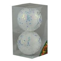 Набор елочных игрушек пластик 10см в упак 2шт 92071-PN
