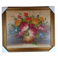 "Картина масло 60*75 ""Цветы в вазе ""  W8020"