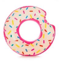 Круг надувной Пончик ремкомплект 9+ в кор 107-99см Intex 56255